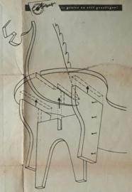 Bouwtekening – Werktekening: 5742, Hop paardje hop  – ca. 1957