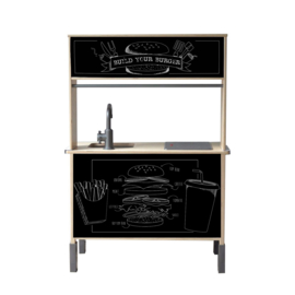 "Ikea Duktig keukensticker ""Burgertent"" versie 2"