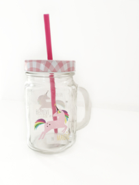 "Drinkbeker ""Unicorn"" transparante achtergrond"