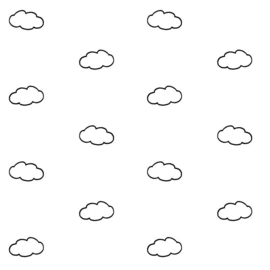 "Behang ""Clouds"""