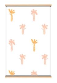 """Behang """"Palmboom"""" roze"""