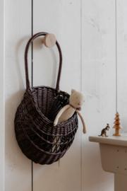 """Meri-Lou """"Wall basket Emilou"""" Dark Brown"""