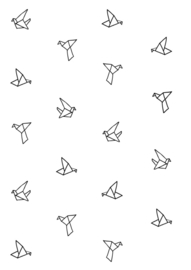 "Behang ""Origami birds"""