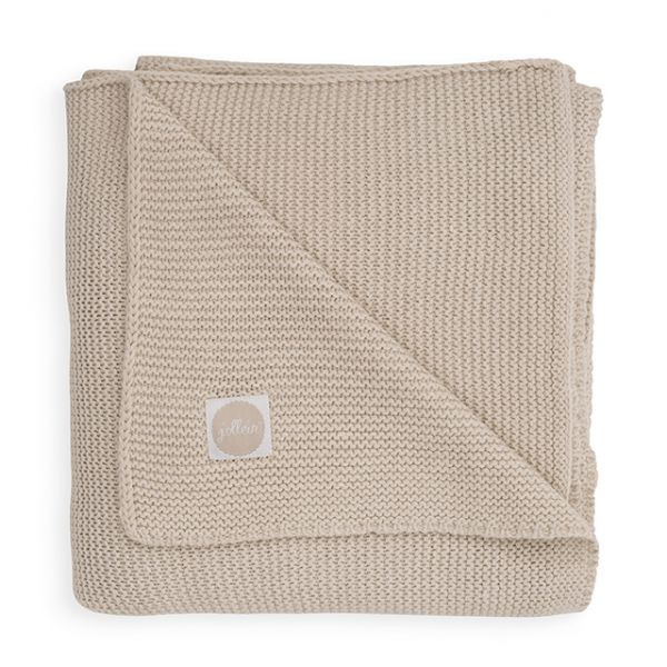 "Ledikant Deken ""Basic Knit""  Nougat"
