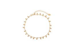 Armband balletjes goud