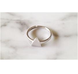 Ring 'driehoek' (sterling zilver 925)