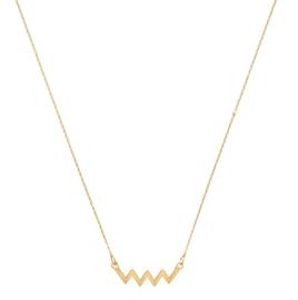 Ketting zigzag wave - goud plating