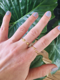 Ring tripple dot (14K goldplated)