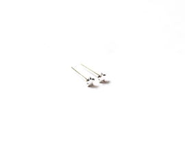 Oorknopje stud 'ster' (3 mm) (PER STUK)