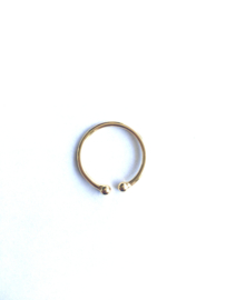 Ring balletje (14K goldplated)