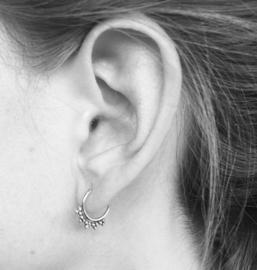 Bohemian style oorringetjes dots