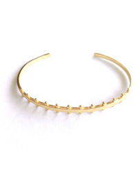 Bangle armband bohemian (14K goldplated)