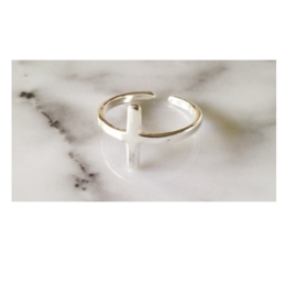 Ring 'kruis' (sterling zilver 925)