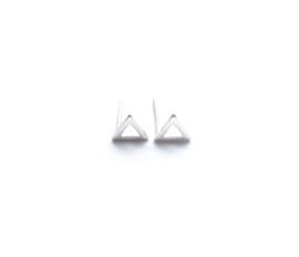 Oorknopje stud open 'driehoek' (6mm) (PER STUK)
