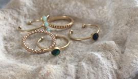 Ring triple turquoise stone (stainless steel)