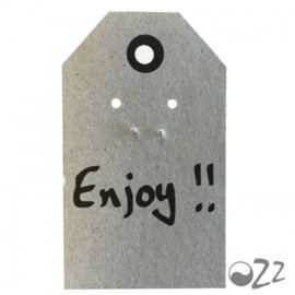 Ozz Oorbellen 'bal' 925 sterling silver op wenskaartje  van Ozz (Enjoy)