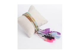 Ibiza armband  rice beads mulicolor