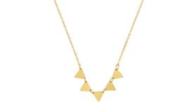 Ketting kleine driehoekjes (goud)