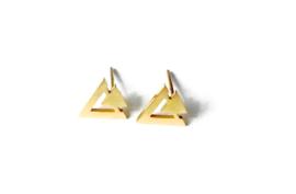 Oorbellen dubbel driehoekje (goud)