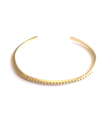 Bangle armband dots (14K goldplated)