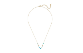 Ketting turquoise steentjes