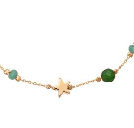 Armband ster en steentjes groen