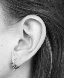 Bohemian style oorringetjes double dots
