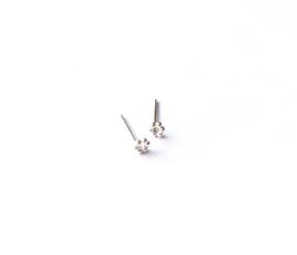 Oorknopje stud round dots (4 mm/PER STUK)