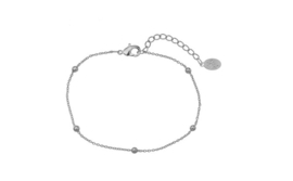 Armband kleine balletjes (zilver)