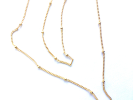 Ketting tiny dots (14K goldplated)