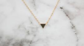 Ketting driehoekje goud