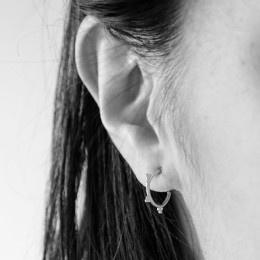 Tibetan style oorringetjes (goud plated)