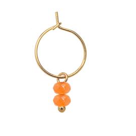 Oorringetjes steentjes oranje