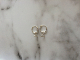 Earrings with triangle charm