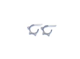 Tibetan style oorringetjes (sterling zilver 925)