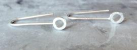 Open circle earhooks (sterling zilver 925)