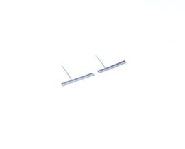 Oorbellen thin bar long (diameter 0.1 mm)
