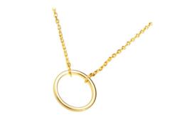 Ketting open cirkel (goud plating)