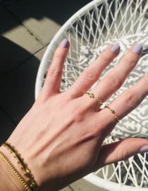 Bangle armband dots (14K goldplated)