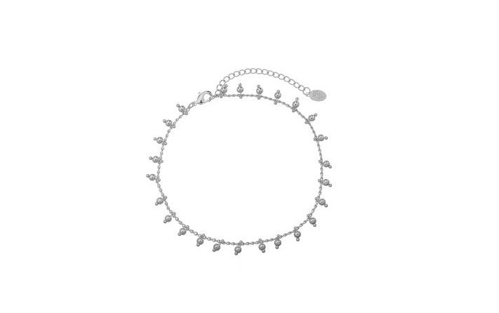 Armband balletjes zilver