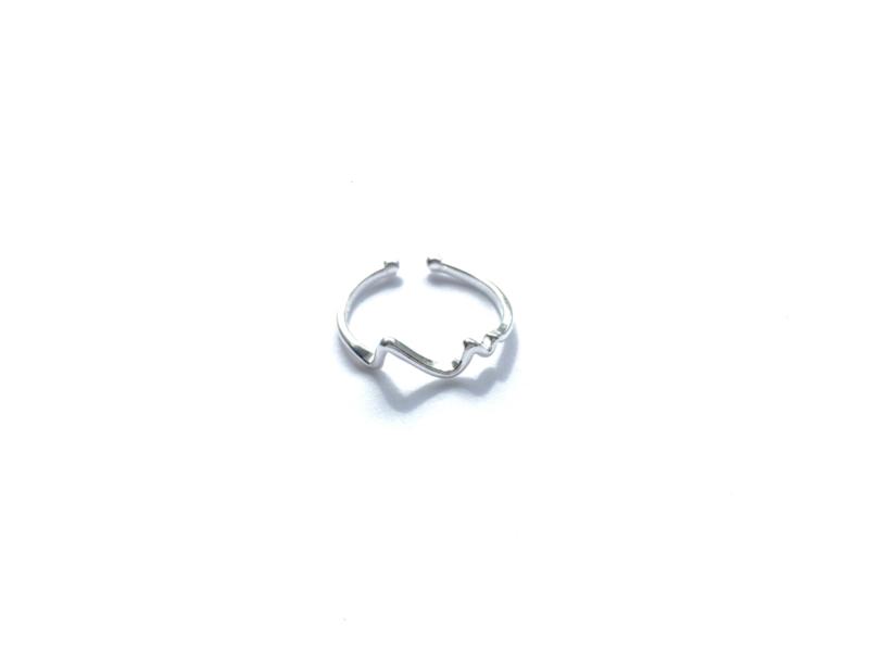 Ring 'golf' (sterling zilver 925)