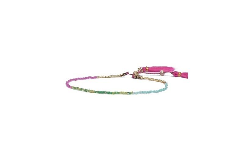 Ibiza armband  rice beads kleur lila