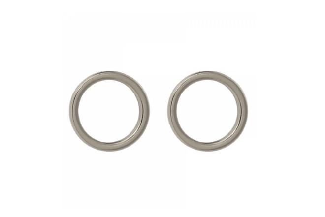 Oorbellen open cirkel witgoud plating (8mm)