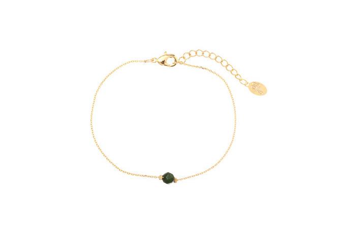 Armband groen steentje