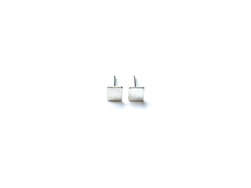 Oorknopje  stud 'vierkant' (4 mm) (PER STUK)