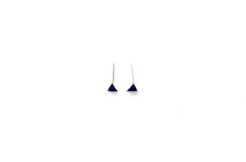 Driehoek stud onyx (PER STUK)