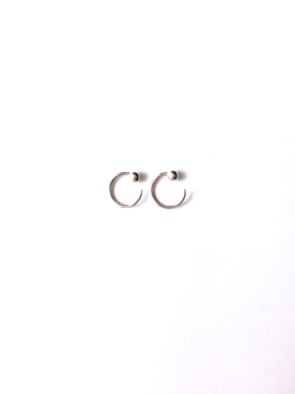 Earhooks ball (sterling zilver 925)