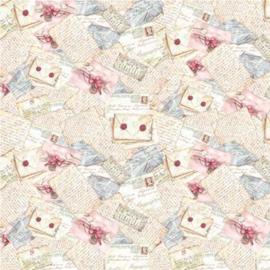 Single Napkin flori letter 50 x 50 cm