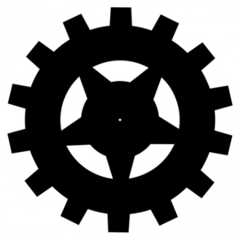 MDF tandwiel Ø30cm x 3mm stervorm