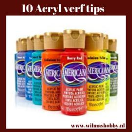 Acryl verf tips
